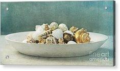 Beach In A Bowl Acrylic Print by Priska Wettstein