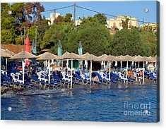 Beach In Aegina Town Acrylic Print