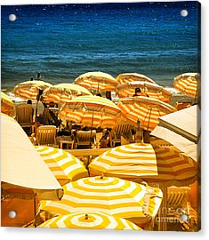 Beach In Cannes  Acrylic Print by Elena Elisseeva