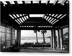 Beach In Del Mar California Acrylic Print by Julia Hiebaum