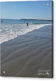 Acrylic Print featuring the photograph beach in Maine by Rose Wang