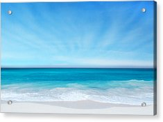 Beach In The Morning Acrylic Print