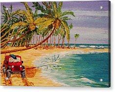 Beach Jeepin' Acrylic Print