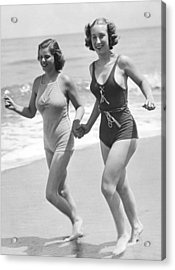 Beach Jogging Pals Acrylic Print
