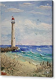 Beach Lighthouse Acrylic Print