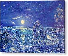 Beach Lites Acrylic Print by Gail Butler