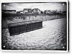 Beach Locker Acrylic Print by John Rizzuto