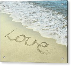 Beach Love Acrylic Print