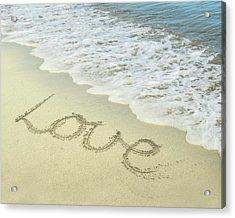 Acrylic Print featuring the photograph Beach Love by Jocelyn Friis