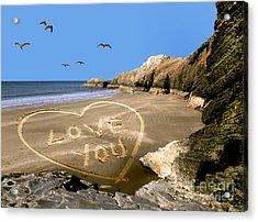 Beach Love Acrylic Print