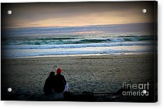 Beach Lovers Acrylic Print by Susan Garren