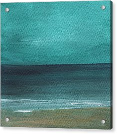 Beach Morning- Abstract Landscape Acrylic Print by Linda Woods