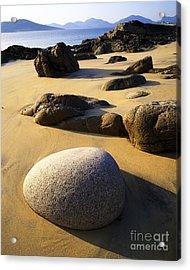 Beach Of Gold Acrylic Print