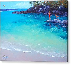 Beach Painting - A Day To Remember Acrylic Print