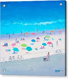 Beach Painting - Happy Days Acrylic Print by Jan Matson