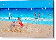 Beach Painting 'summer Holiday'  Acrylic Print