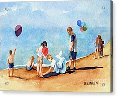Beach Party Acrylic Print by Sandy Linden