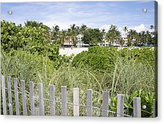 Acrylic Print featuring the photograph Beach Path by Laurie Perry