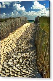 Acrylic Print featuring the photograph Beach Path by Raymond Earley