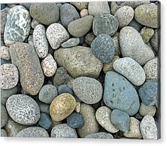 Acrylic Print featuring the photograph Beach Pebbles by Gerry Bates