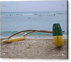 Beach Play Acrylic Print by Mary Deal