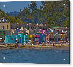Acrylic Print featuring the photograph Beach Play by Tom Kelly