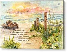 Beach Post Sunrise Psalm 139 Acrylic Print