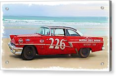 Beach Race Car 226 Acrylic Print