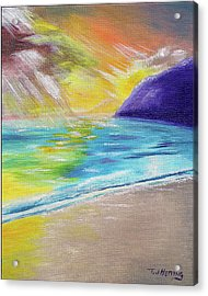 Acrylic Print featuring the painting Beach Reflection by Thomas J Herring