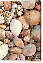 Beach Rocks Acrylic Print by Andrea Timm