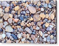 Beach Rocks Acrylic Print by Katherine Gendreau
