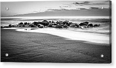 Beach Rocks Sky Acrylic Print