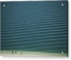 Beach Scene - Four People On Beach Acrylic Print by Andy Mars