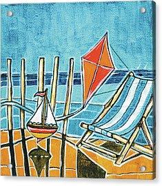 Beach Scene I Acrylic Print by Stuart Roy