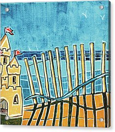 Beach Scene II Acrylic Print by Stuart Roy