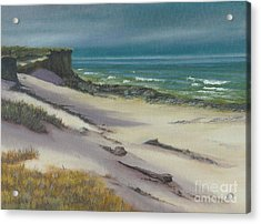 Acrylic Print featuring the painting Beach Shadows by Jeanette French