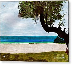 Acrylic Print featuring the drawing Beach Side by D Hackett