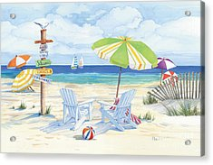 Beach Signs Adirondack Chairs Acrylic Print