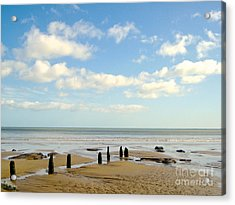 Acrylic Print featuring the photograph Beach Skies by Suzanne Oesterling