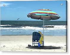 Beach Solitude Acrylic Print by Sandi OReilly