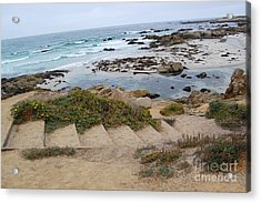 Acrylic Print featuring the photograph Descending To The Beach Monterey by Debra Thompson