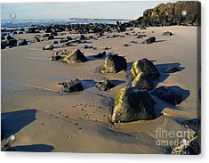 Beach Stones I Acrylic Print by Cassandra Buckley