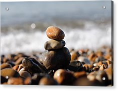 Beach Stones Acrylic Print by Ivelin Donchev