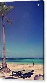 Beach Stroll Acrylic Print by Laurie Search