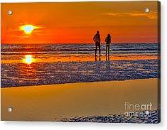 Beach Stroll Acrylic Print by Marvin Spates