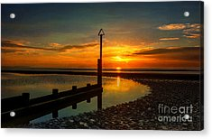 Beach Sunset Acrylic Print by Adrian Evans
