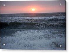 Beach Sunset Acrylic Print by Holly Blunkall