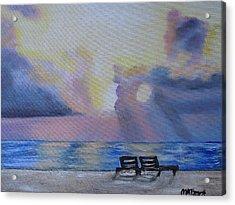 Beach Sunset Acrylic Print by Melissa Torres
