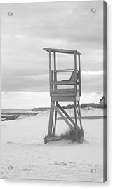 Beach Throne Harwich Ma Bw I Acrylic Print by Suzanne Powers