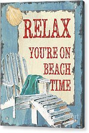 Beach Time 1 Acrylic Print by Debbie DeWitt